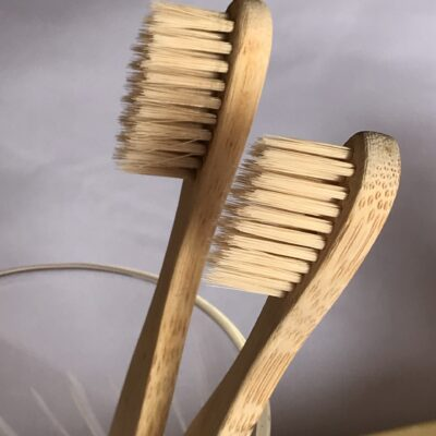 Bamboo Toothbrush and Biodrgradable Loofah